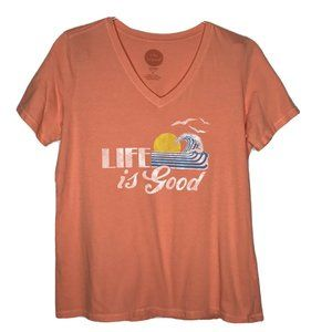 Life Is Good Tshirt Classic Fit Short Sleeve Top